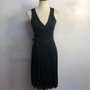 Banana republic black wrap dress size Small